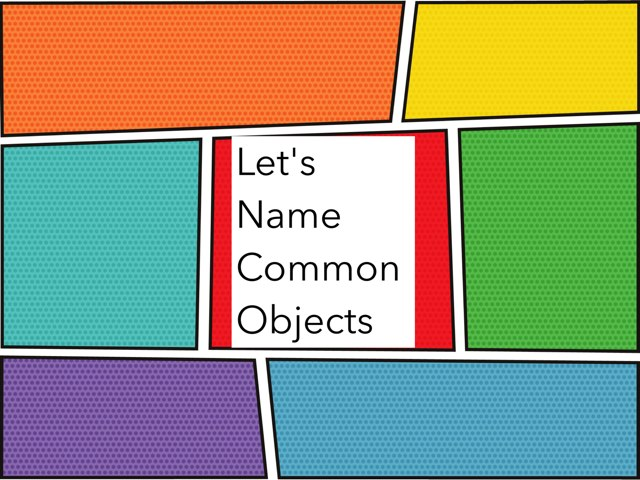 Naming common objects,describing,categorizing by Meredith Bluver