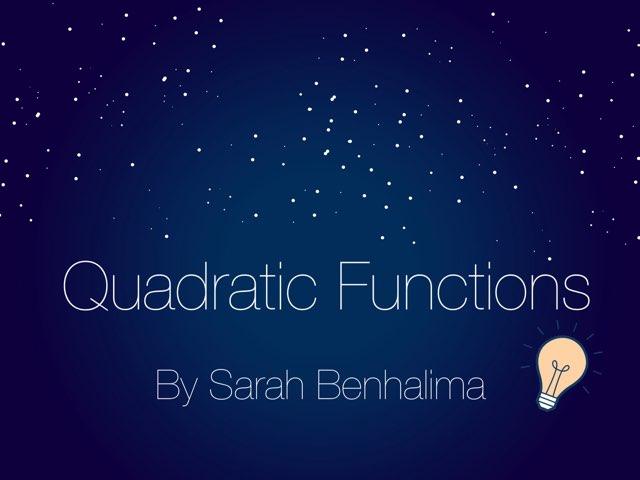 Quadratic by Sarah Benhalima