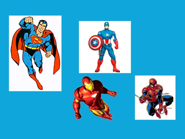 Super heros  by Mrs.  Suanny