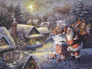 A Christmas Scene by Janice Johnson
