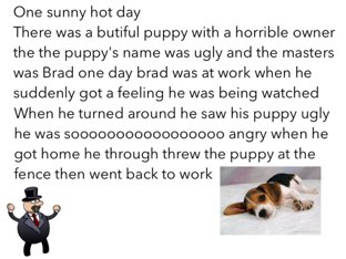 A really cool story about a dog by Bridget smart