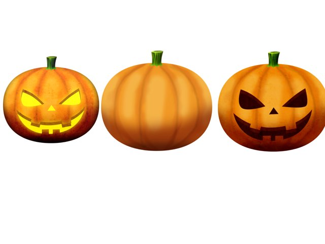 Which pumpkins doesn't have a face by Angela Hawkins