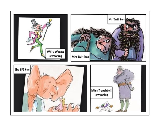 Quentin Blake picture board by Victoria Keating