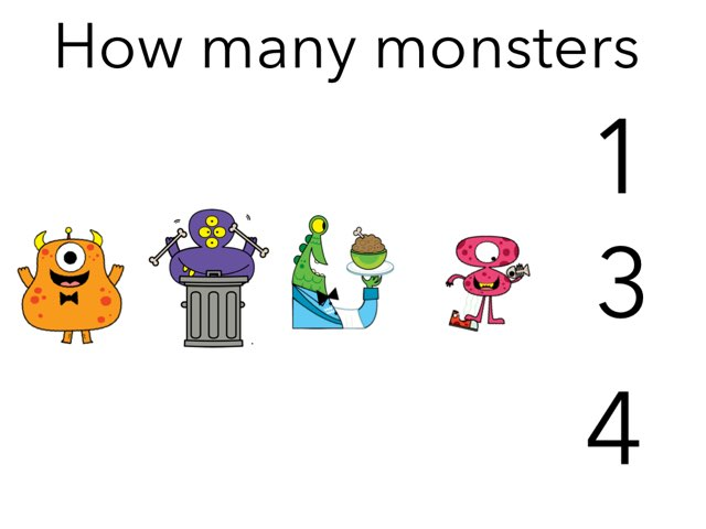 Counting monsters up to 10 by Erin flannery
