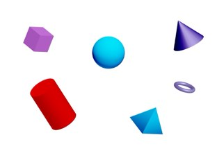3d shapes!  by Erica Vogt