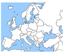 Europe countries by Pat De
