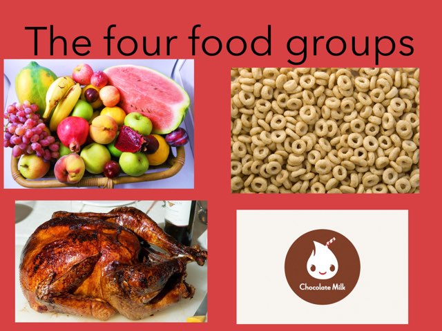 Students created a game to review the four food groups. by Jennifer Alexander