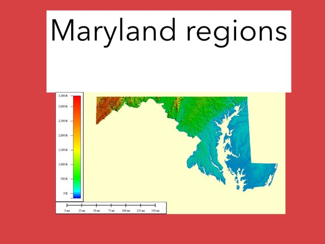 Maryland regions by Sue donaldson