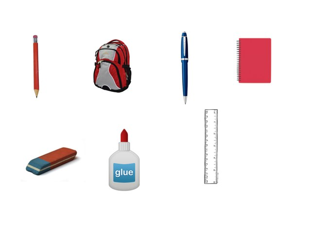 Classroom objects in English by Mandy Bitton