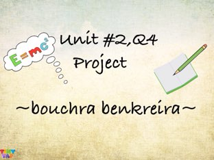 project  by bouchra  benkreira