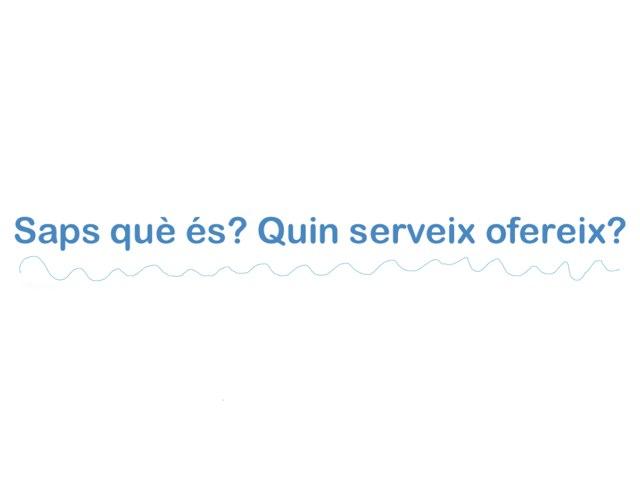 Saps què és? Quin servei ofereix? by berta Vilà