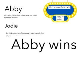 Abby vs Jodie by Keira Hillsley