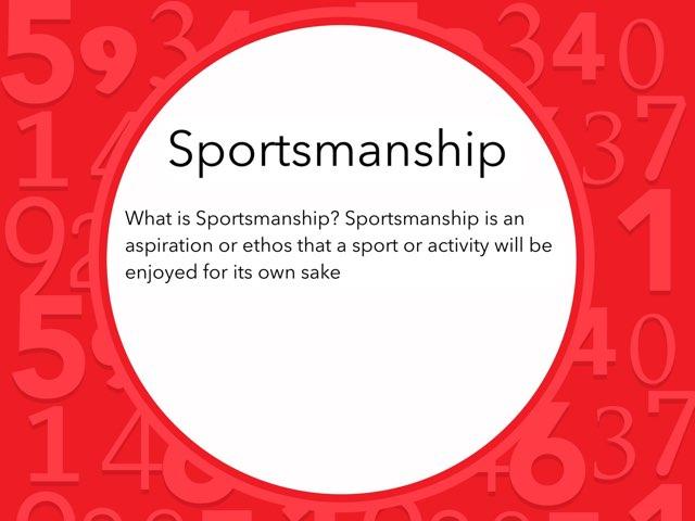 Sportsmanship  by Antonio Daniels