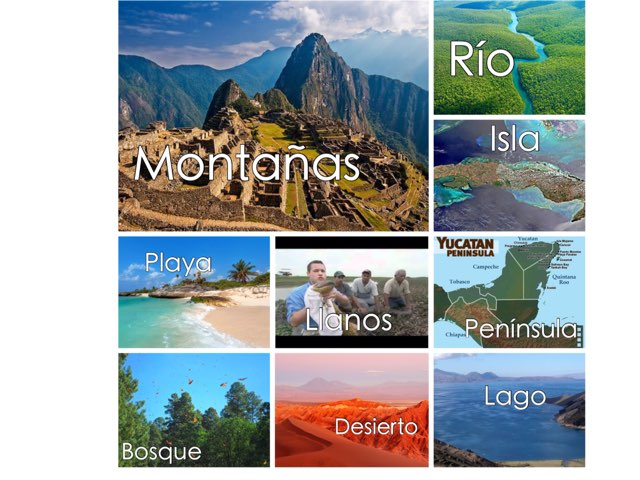 Geographic Features Spanish by Casey McCullough