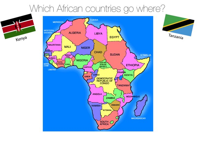 Geography - African Countries Puzzle by Mrs Scott