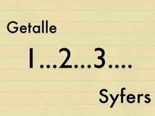 Getalle of syfers Copy  by Juffer Juffrou
