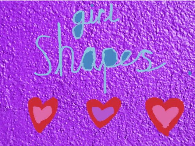 Girl shapes AGE 3-4 by Amelia Hussain