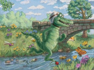 Great Amphibian Roaming In The Wild by Suzanne McMillan
