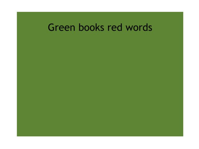 Green Books Red Words by Heather Cooper