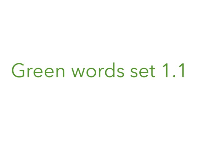 Green Words Set 1.1 by Heather Cooper