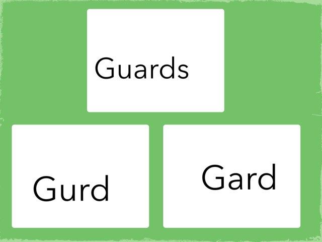 Guard Game by Ann nizi