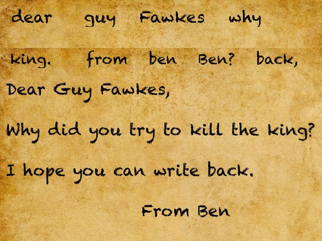 Guy Fawkes by Mrs brake