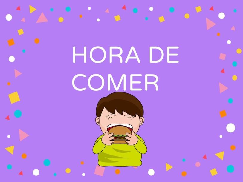 HORA DE COMER by Estefanía Vega Cid