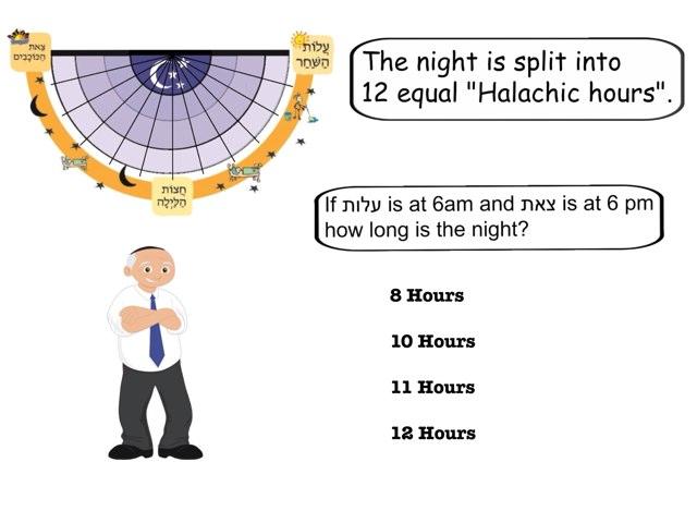 Halachic Hours by Chanania Engelsman