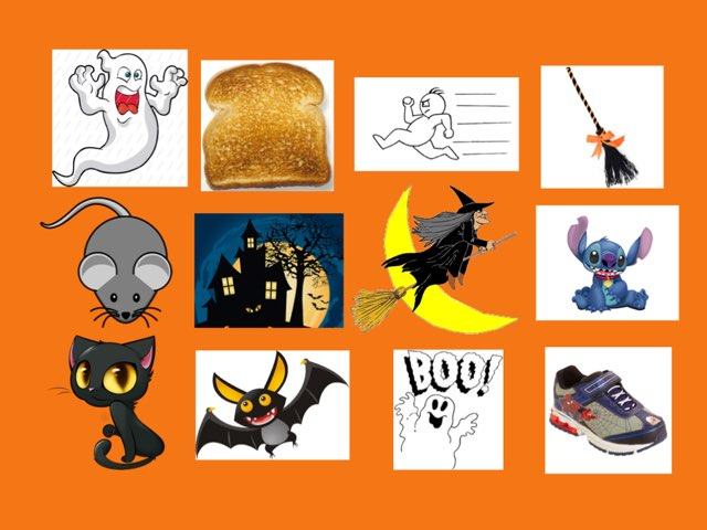 Halloween Rhyming Game by Katherine Rackliff