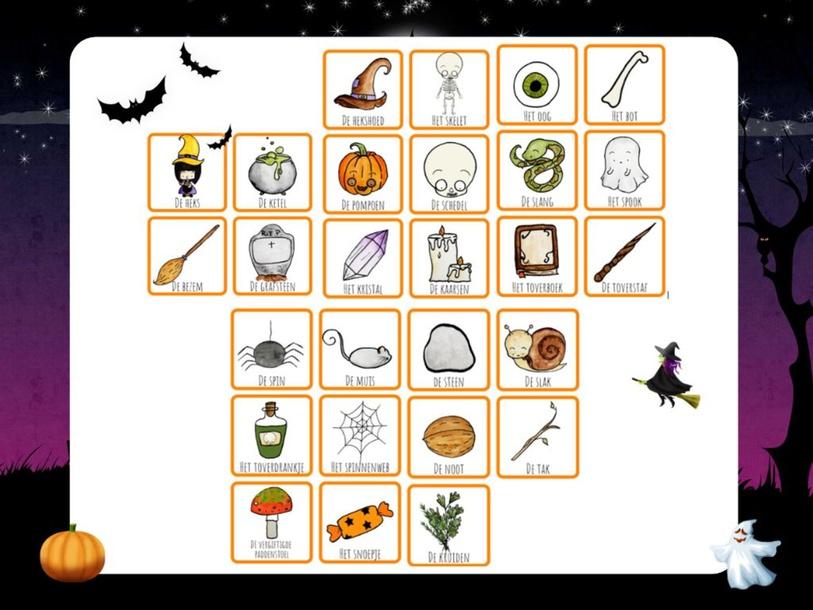 Halloween woorden by Annoeska Paulus