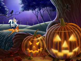 Halloweenzoekspel by Femke Huygens