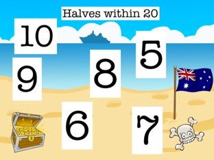 Halves Within 20 by Mrs Kelly