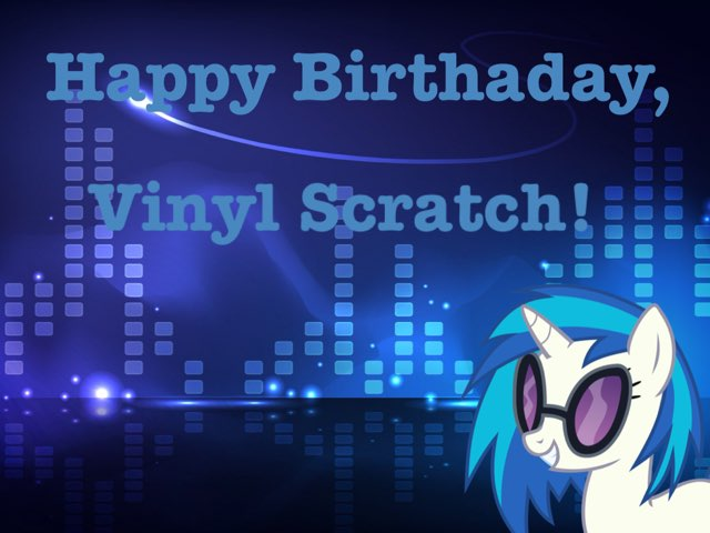 Happy Birthday, Vinyl Scratch! by Mohammad isha