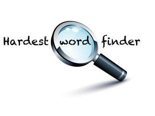 Hardest Word Finder by Belinda Job