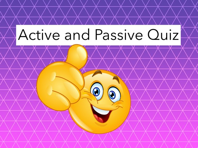 Harry and Oliver's Passive And Active Quiz by Y6F Y6F