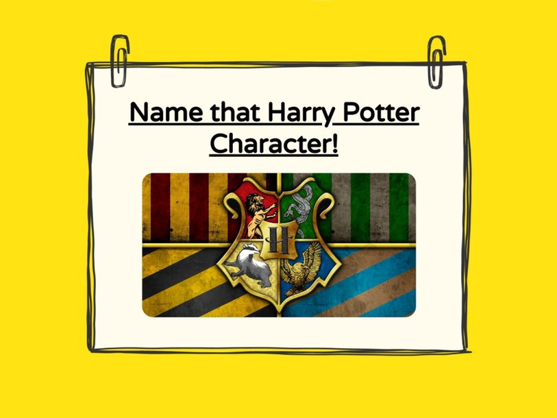 Harry Potter Character Matching by Taylor Scalfaro