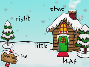 Holiday sight word practice by Erica Vogt