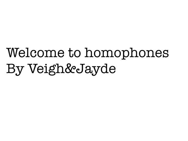 Homophone Game by Krystal Wiggins