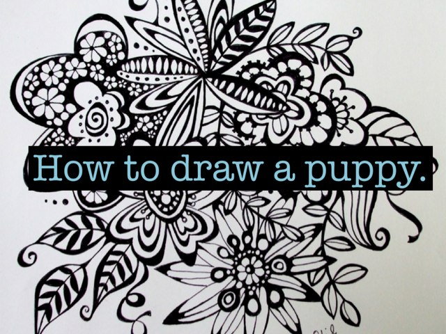 How To Draw A Cute Puppy by Nicole Dockins
