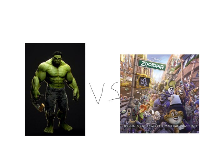 Hulk Vs Zootopia by George awrahim