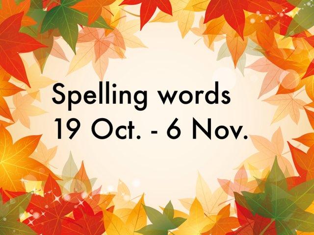 IJ spelling 6 Nov. by Resource Room