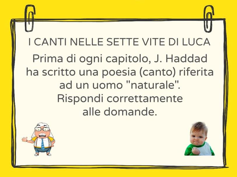 I CANTI NELLE SETTE VITE DI LUCA by Leonardo Bonenti