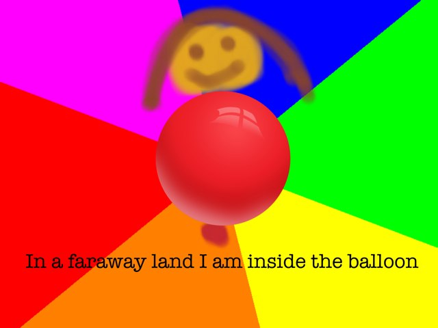 In A Faraway Land I Am Inside The Balloon by Gugus Ibuas