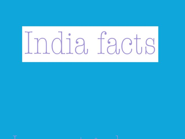 India Facts by Dave Ravenscroft