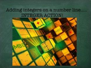 Integer Action Quiz 1 by Shelley Cross