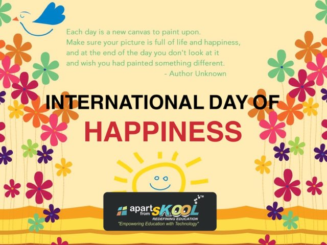 International Happiness Day by TinyTap creator