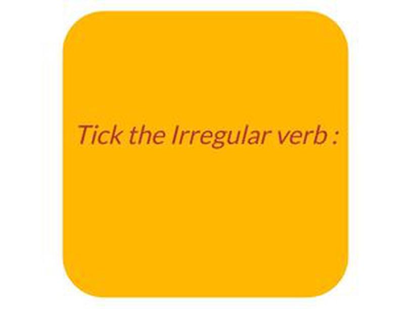 Irregular Verbs  by يوسف المولد