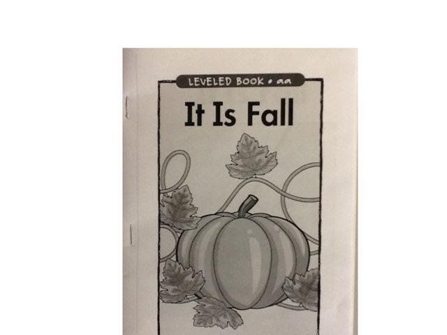 It Is Fall by Sarah Severance