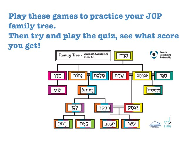 JCP Family Tree Revision  by Chanania Engelsman