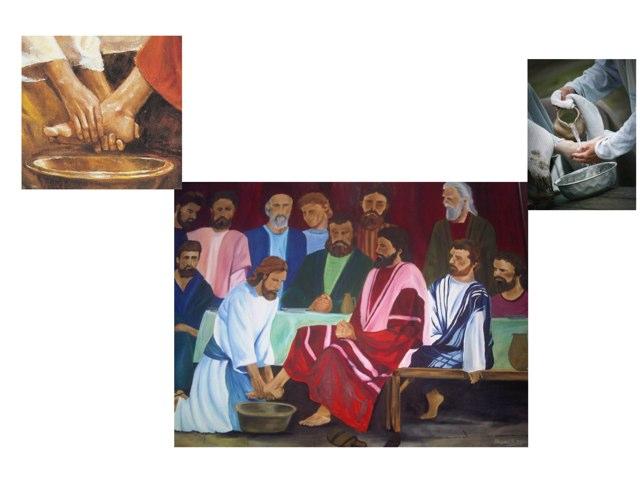 Jesus Washing Feet by Laurie Friedrich